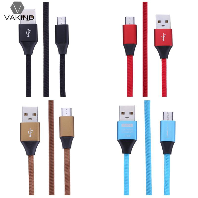 Motivated 1m/3.28ft Weaving Micro Usb Data Sync Transfer Cable Nylon Braided Alloy Fast Quick Charging Cord Wire Line High Quality Goods Computer Cables & Connectors