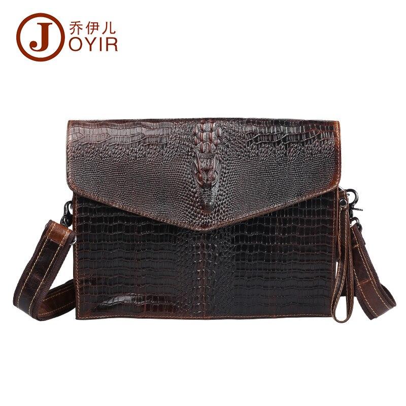 ФОТО 2017 Fashion 100% genuine leather man bags cowhide leather alligator shaped crossbody bag men messenger bags men gift 8330