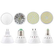 Holofote led mr16 gu10, lâmpada para ponto e27 e14 2835 smd, 220v 110v 12v lâmpada cob 3w 9w 12w 15w para decoração de casa