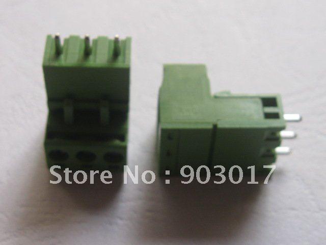 50 шт. в лоте тип зеленый 3way/pin 5,08 мм винтовой клеммный блок разъем горячая Распродажа высокого качества