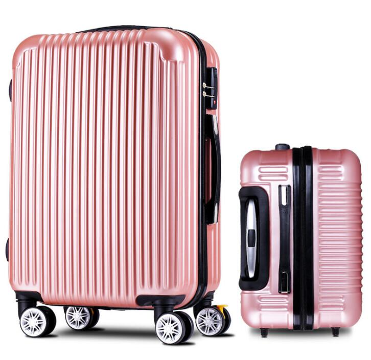 Bagages, valise, roue à cardan, valise ABS + PC valise à tringle, valise d'embarquement de 20 pouces