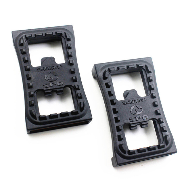 For SM-PD22 M520 M540 M780 Self Locking Pedal Cleat Flat Adapters with Reflector