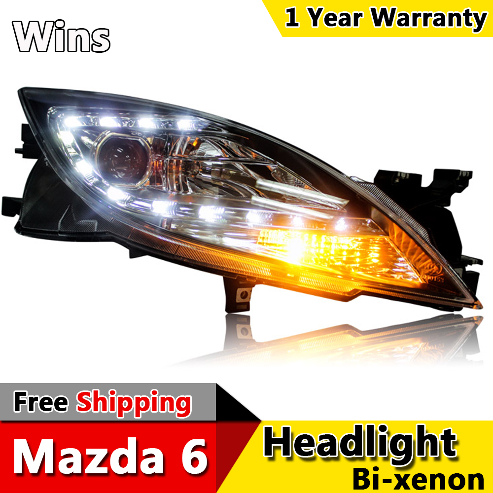 Wins lights for mazda 6 led headlights 2009-2014 for mazda 6 head...