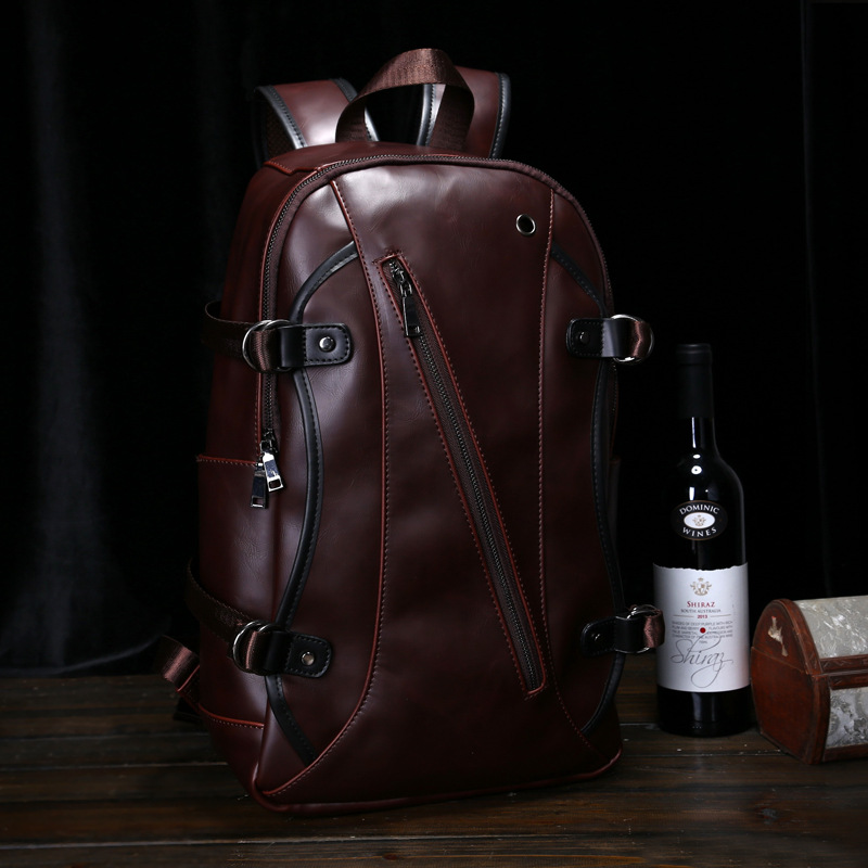 Vintage PU Leather Backpack Fashion Backpacks Men Backpack for 14'' Laptop bag Middle School Bags 2016 new mochila masculina ozuko brand men travel backpack 2018 new style casual school bag for teenagers 14 15 inch laptop masculina shoulder bags mochila