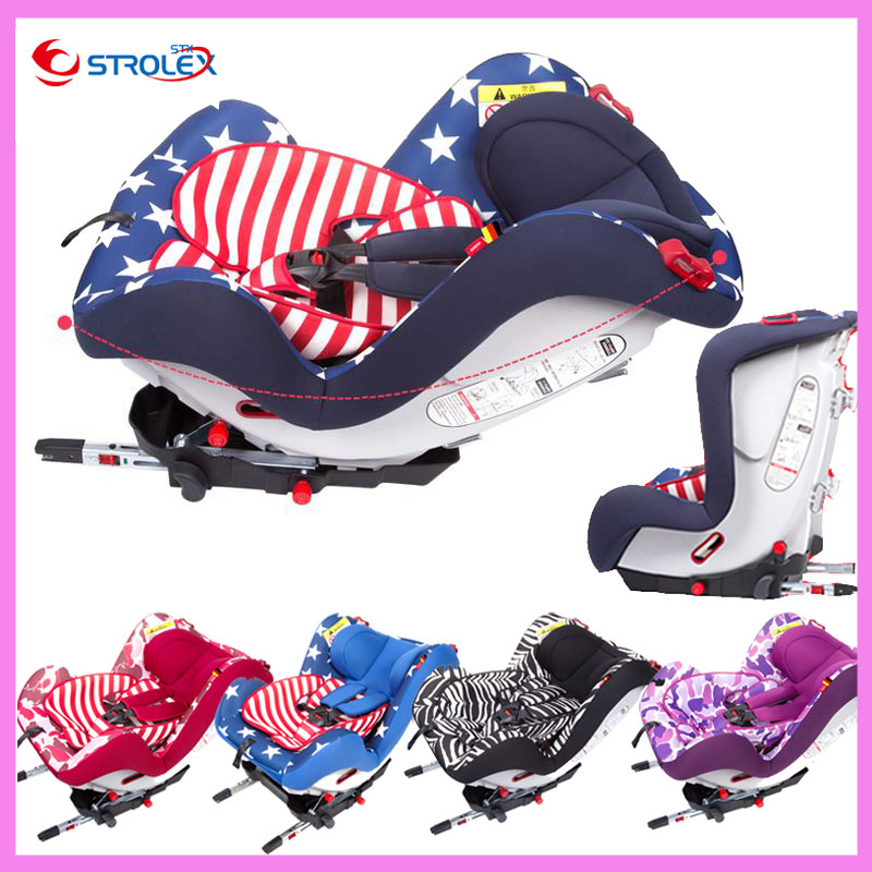 Isofix Interface Baby Childrens Car Safety Seat Basket Kids Isofix Five-point Harness Adjustable Lay Safety Seat Chair
