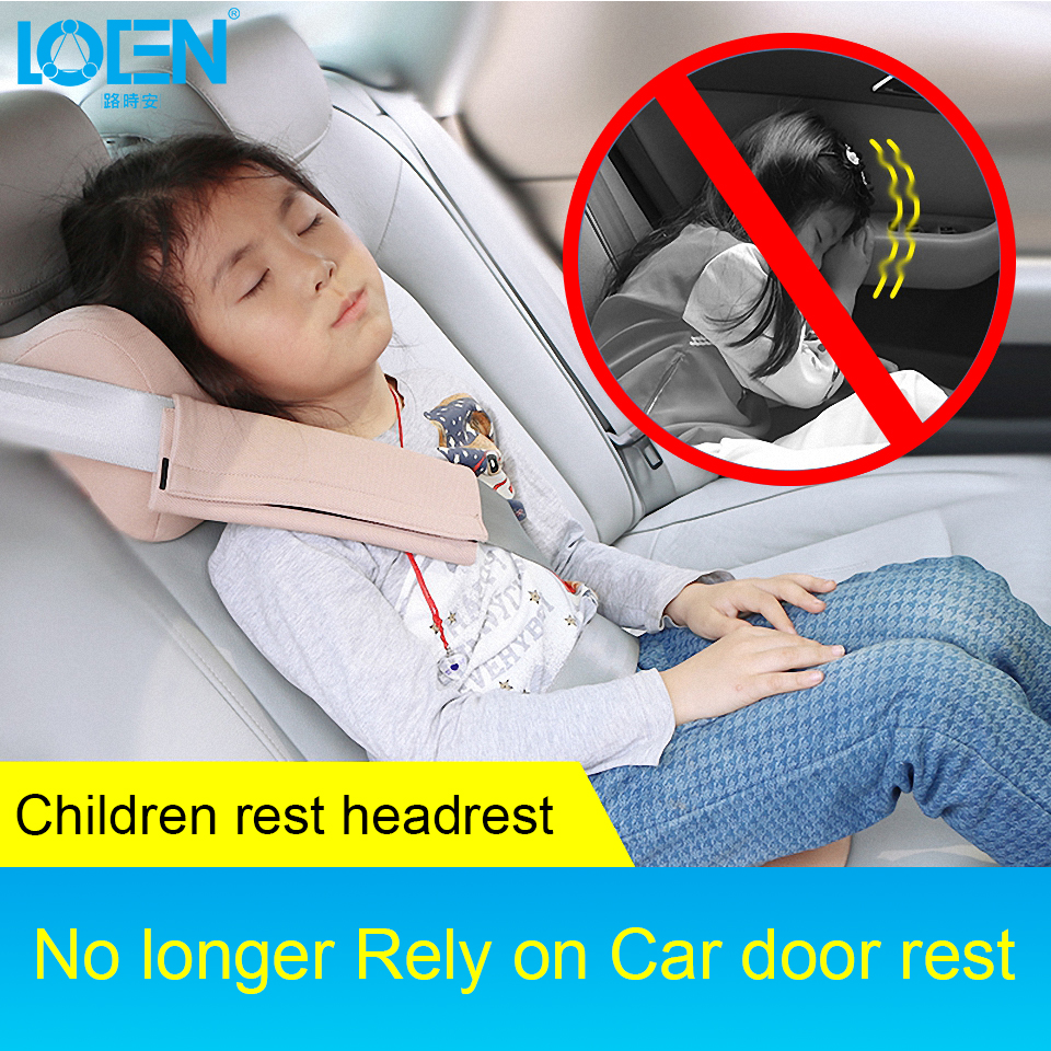 LOEN Car Children Sleep U Shape Memory Foam Car Travel Head Support Rest Pillow for Neck Auto Seat Cushion for Child Kids