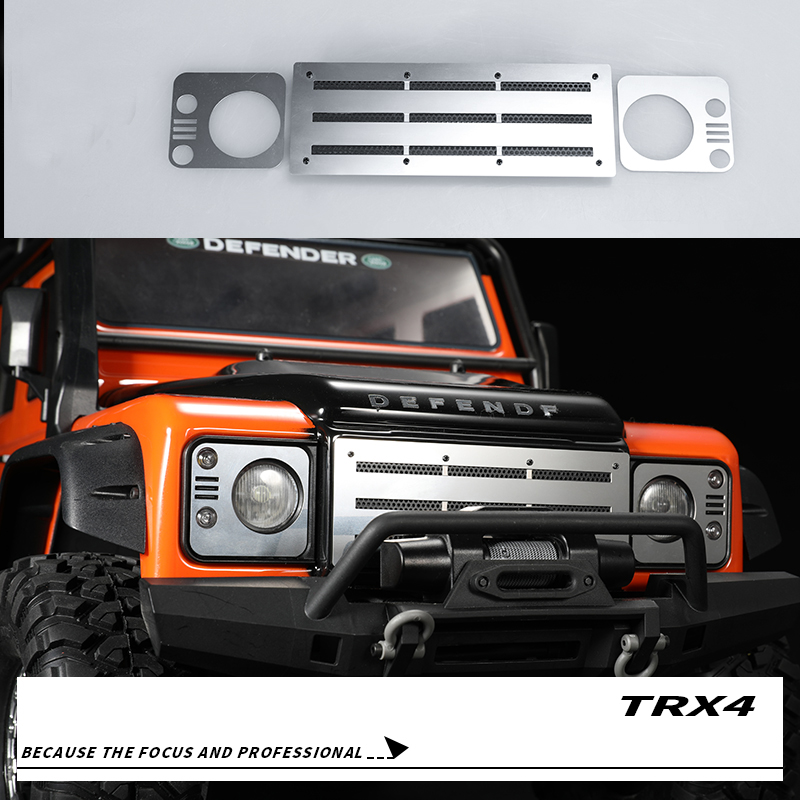 1Set Traxxas TRX4 Front Face Mesh Stainless Steel Front Intake Grille Cooling Heat Sink for Crawler Land Rover Defender RC Cars forsining full calendar tourbillon auto mechanical mens watches top brand luxury wrist watch men erkek kol saati montre homme