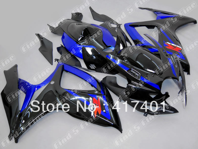 blue black for SUZUKI GSX R600 R750 06-07 GSXR 600 750 GSXR600 GSXR750 GSX-R600 GSX-R750 K6 06 07 2006 2007 fairing kit