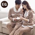New arrive leisure pajamas Male Full Sleeve Couples 100% Cotton Leisure homewear suit