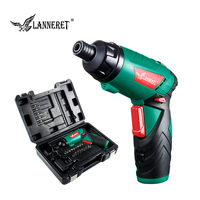 LANNERET 3.6V Lithium Ion Cordless Electric Screwdriver Household Multifunction Drill/Driver Power Gun Tools LED Light BMC