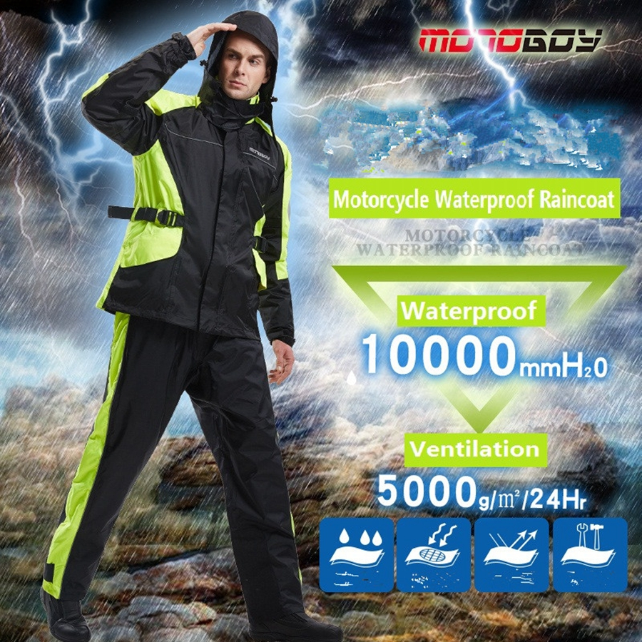 Free shipping 1set Motorcycle Motocross Racing Clothes Raincoat Rain Pants suit Raincoat Jacket And Raincoat Pants цены