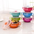 Baby Learning Dishes With Suction Cup children plate Assist Food Bowls Temperature Sense baby Tableware Keep Warm Bowl