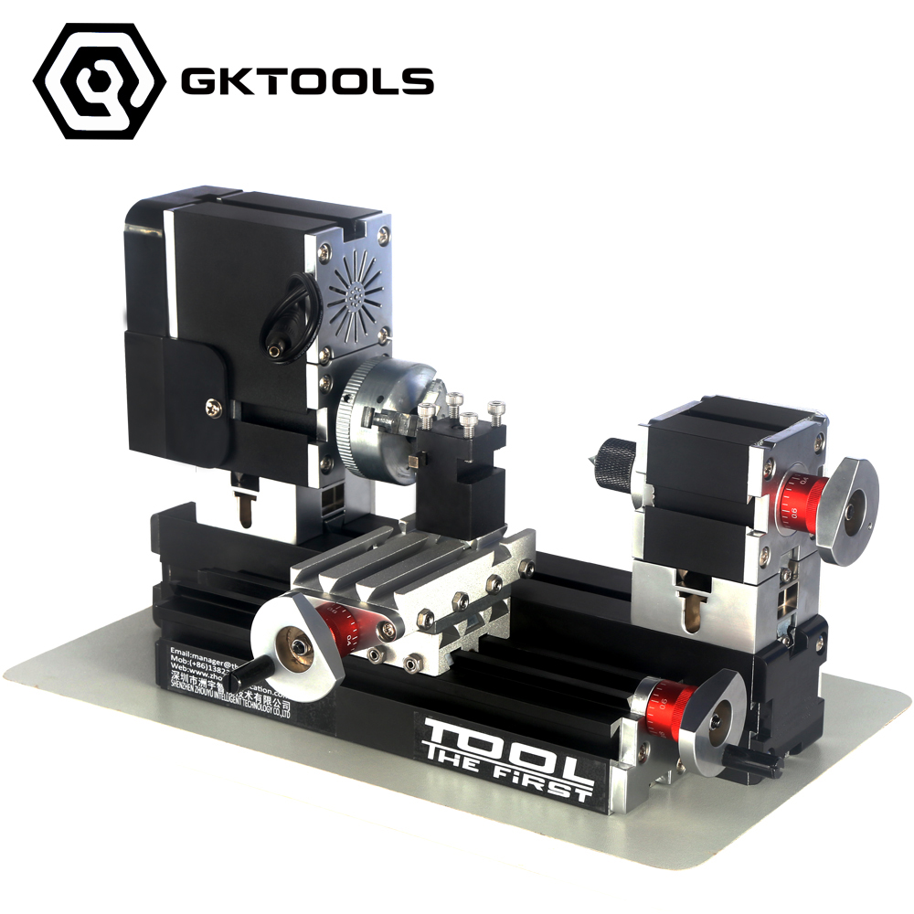 Electroplated Mini Metal Lathe Machine with 12000r min 60W Motor and Larger Processing Radius DIY Tools