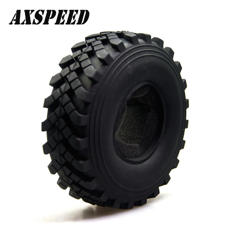 Car Tire Crawler 2.2 Inch Crawler Tire 40mm Wheel Axial Rock Racer Crawler For RC 1:10 Beadlock Wheels Model Car#1(China)