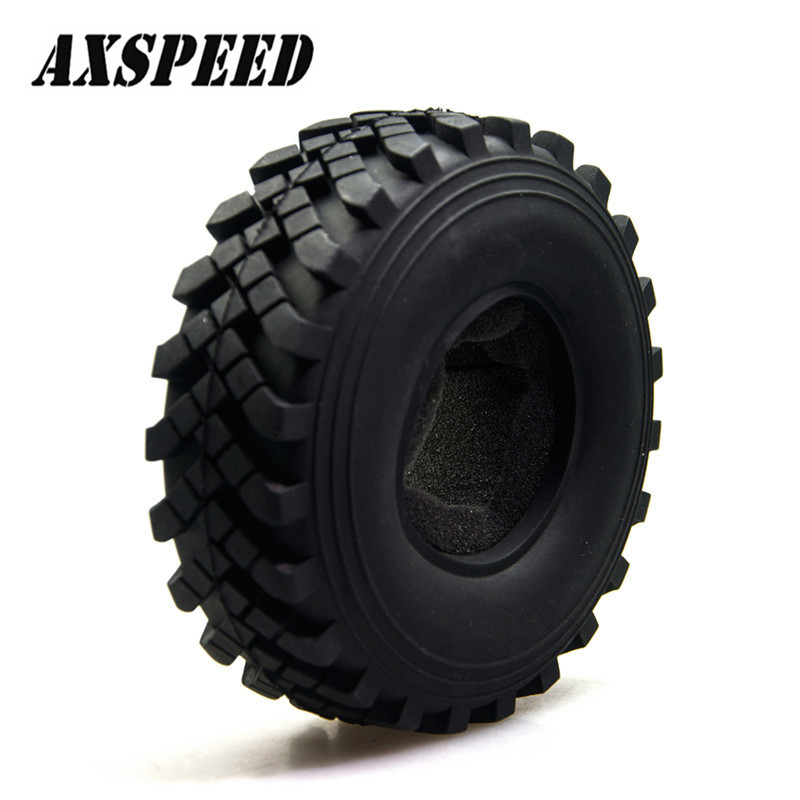 Car <font><b>Tire</b></font> Crawler <font><b>2.2</b></font> Inch Crawler <font><b>Tire</b></font> 40mm Wheel Axial Rock Racer Crawler For RC 1:10 Beadlock Wheels Model Car#1 image
