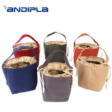 1PCS Brief Handle Teaware Storage Bag for Outdoor Travel Eas