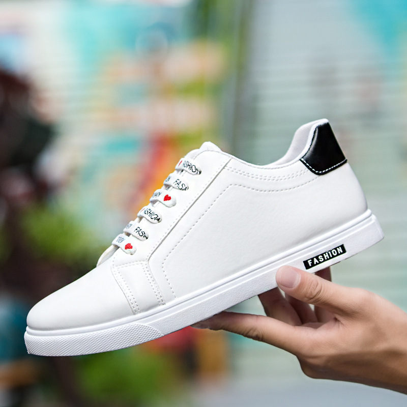 White Flat Shoes Men Casual Shoes Lace
