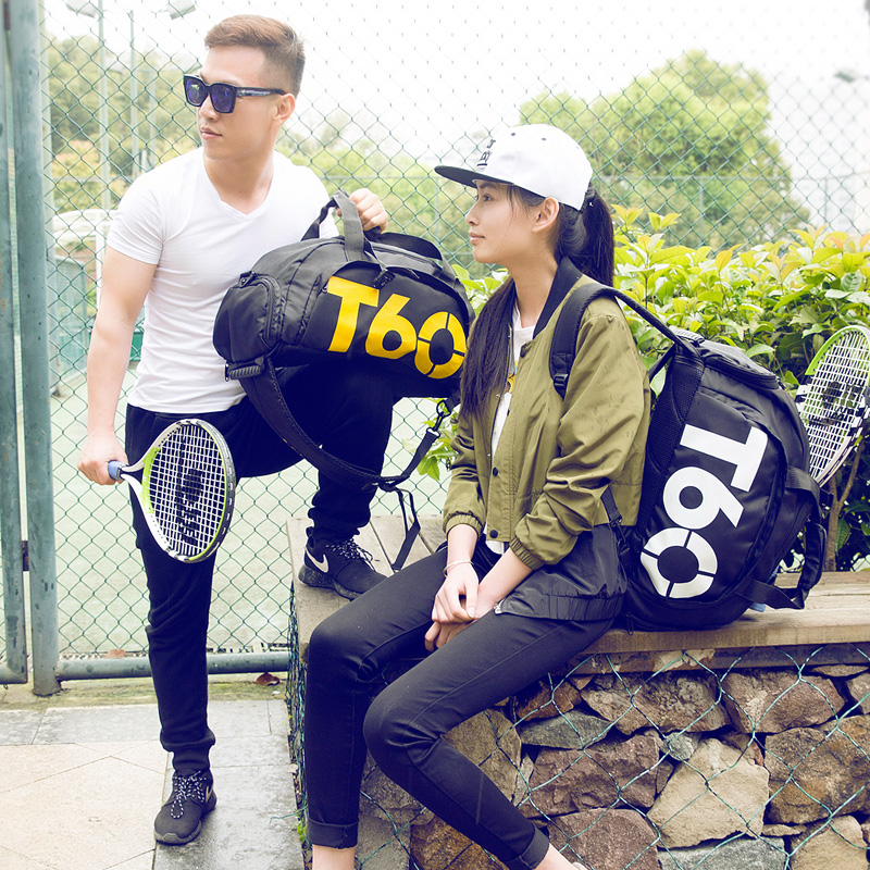 New Men Sport Gym Bag Lady Women Fitness T60 Travel Handbag Outdoor Backpack Separate Space For Shoes sac de sport bolsa deporte6