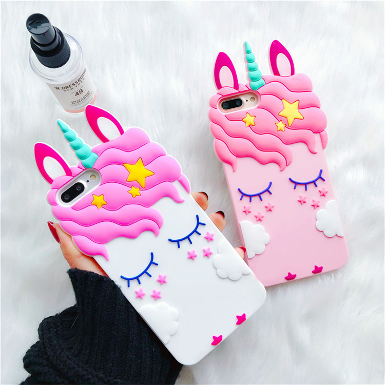For Huawei <font><b>Honor</b></font> <font><b>7A</b></font> 5.45inch <font><b>3D</b></font> Cherry Unicorn Silicone Back Case Cover Skin for Huawei <font><b>Honor</b></font> <font><b>7A</b></font> 7 A <font><b>DUA</b></font>-<font><b>L22</b></font> RU Version image