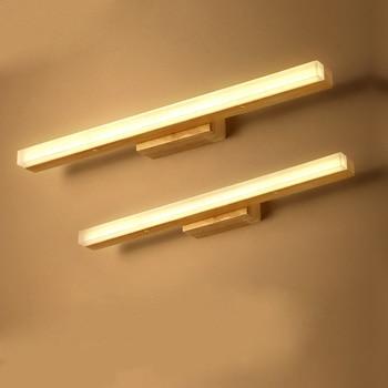 Escalera De Madera Lámparas De Pared Luces De Pared De Madera Lámpara De Pasillo Lámpara De Noche Espejo De Baño Lámparas Frontales Creativas Luces De Pared ZA
