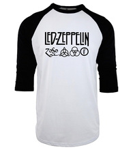 men three quarter sleeve T-Shirts S-XXL Led Zeppelin Rock Zoso Band tops tees 2017 Summer t shirt Casual cotton o-neck camisetas