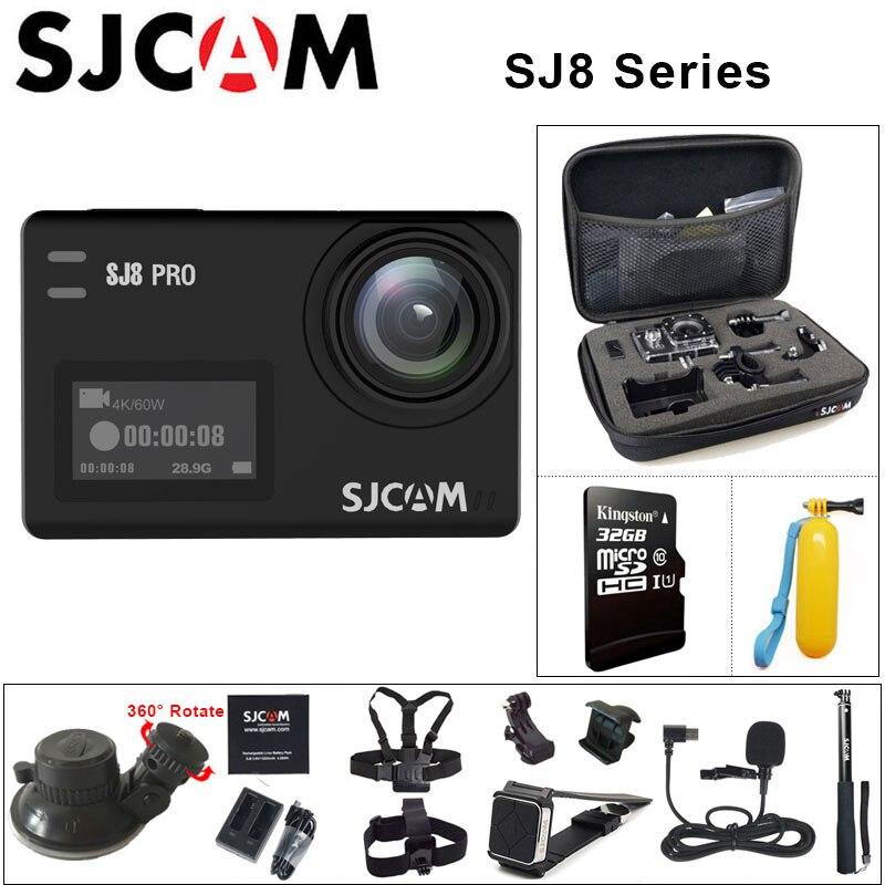 Original SJCAM SJ8 Série SJ8 Air & SJ8 Plus & SJ8 Pro Action Camera 1290 p 4 k WI-FI Remoto controle de câmera à prova d' água Esportes DV