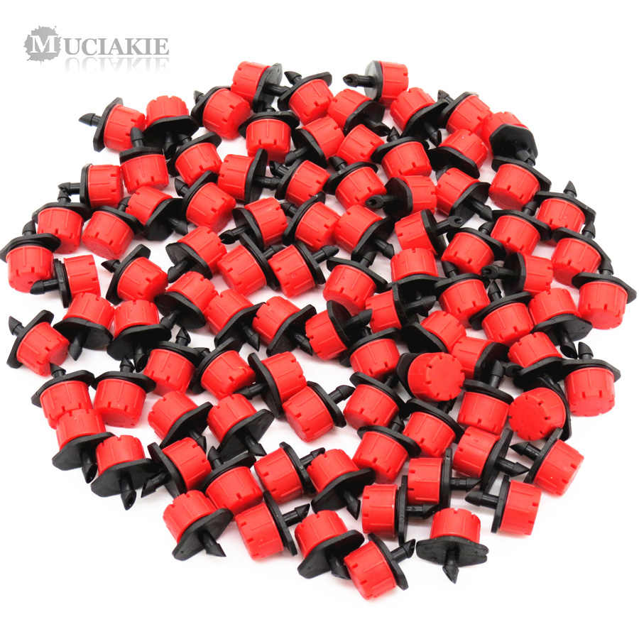 MUCIAKIE 30PCS 4/7mm Adjustable Nozzle for Garden Drip Irrigation Sprinkler Emitter with 1/4'' Barb