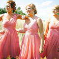 Hot Sale One Shoulder Sexy Bridesmaid Dress Short Style Wedding Party Gowns New Arrival 2016 Custom Made