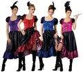 El envío Saloon Girl Burlesque Can Can Cowboy para mujer occidental del traje S-5XL
