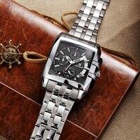 Lowest price)2018 NEW Original Big Dial Creative Business Quartz watch Stainless Steel Luxury men watch elogio Masculino