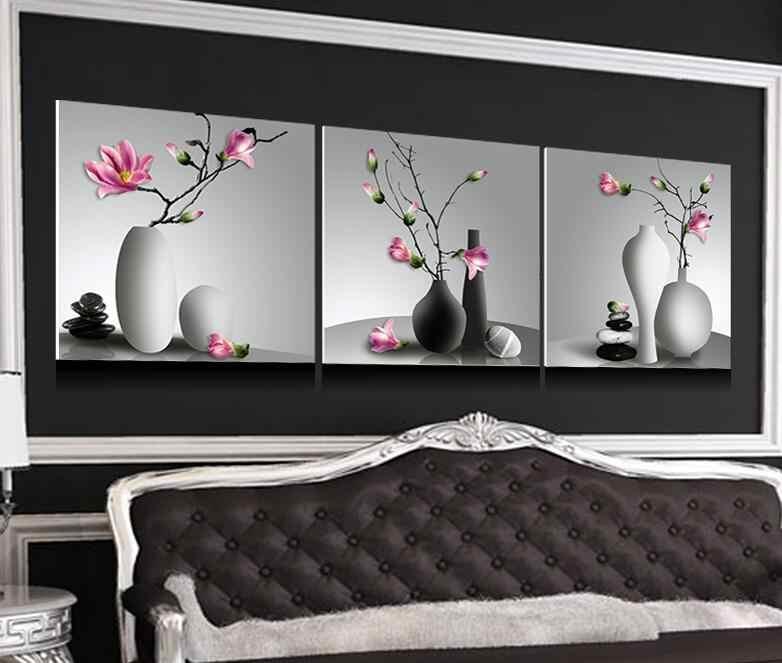 5 adet çiçek 5d diy elmas nakış oya çapraz dikiş kiti tam sticker sihirli elmas boyama kristal orkide