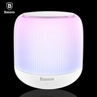 Baseus LED Bluetooth Speaker Portable Mini Wireless Speakers V4 2 Stereo Hands Free Subwoofer Loudspeaker With
