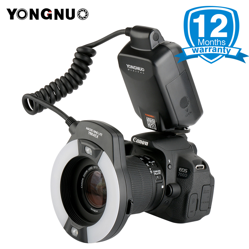 YONGNUO YN-14EX TTL Macro Ring Flash Light with 4 Adapters YN14EX Speelite for Canon 5D Mark II 5D Mark III 6D 7D 60D 70D 700D yongnuo yn 14ex ttl macro ring flash light work with adapter for canon 7d 6d 5diii 70d 700d