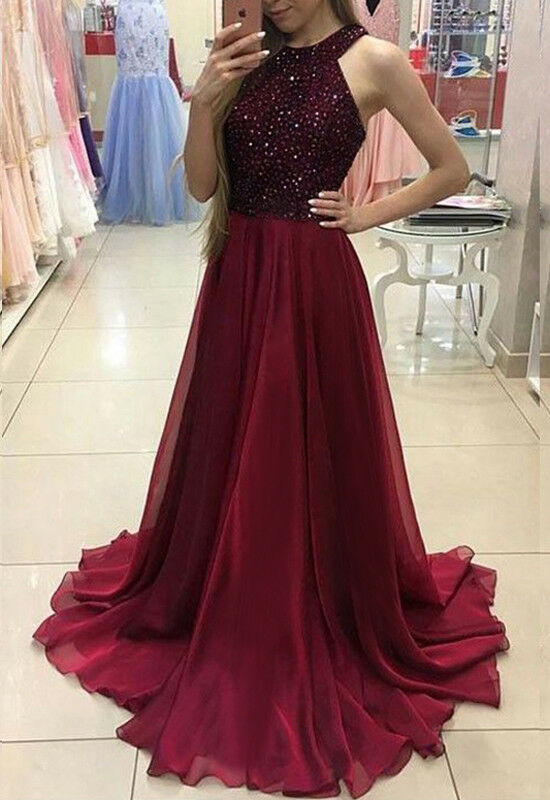 Evening Party Dress Women Formal  Ball Gown Party Long Maxi Dress Sexy Sleeveless Party Dress Prom