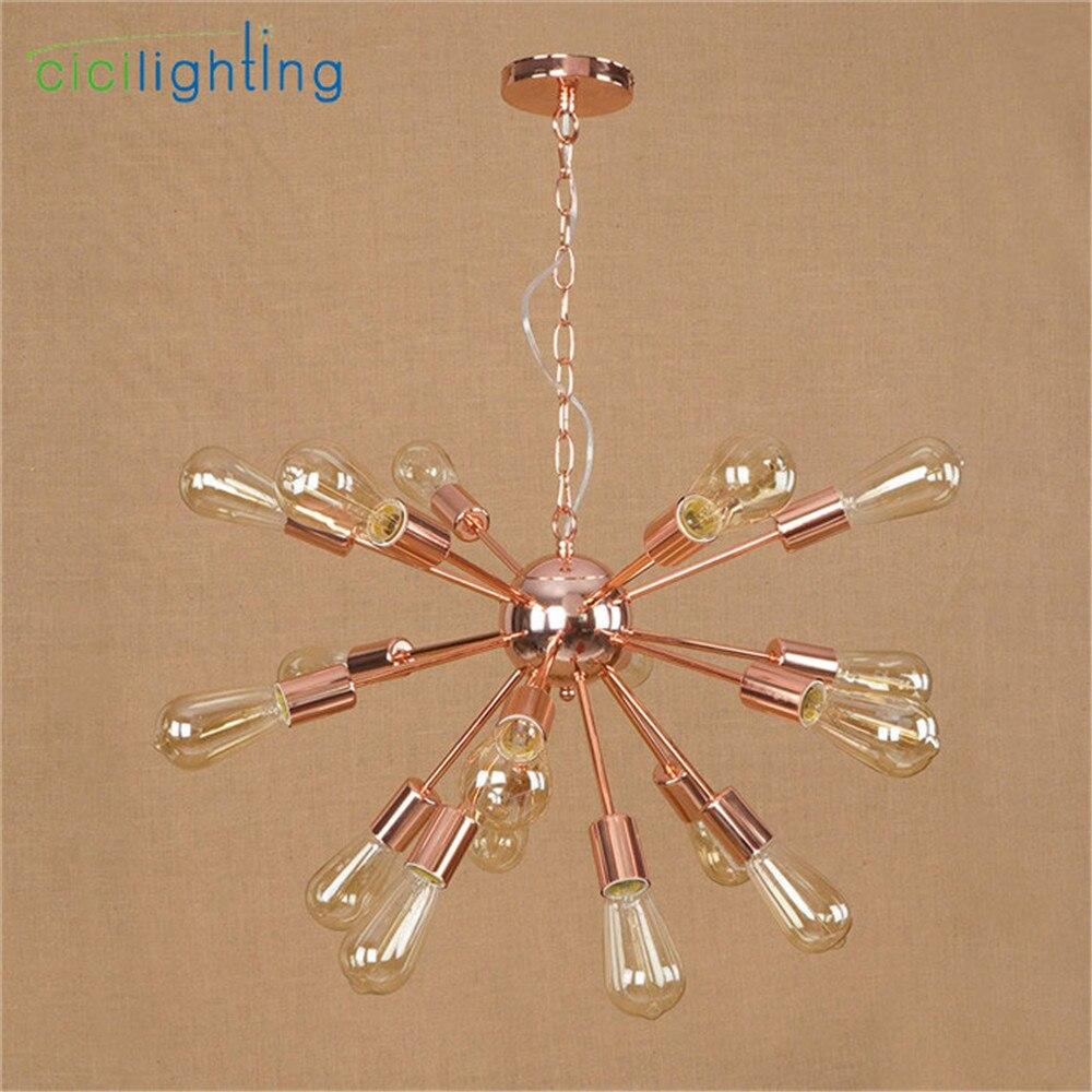 Haute qualité plaqué lustre moderne arbre branche araignée chaîne lustre lustres 9/12/15/18/21 lumière Art décor suspension - 6