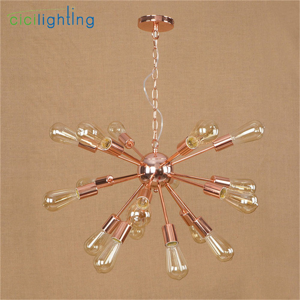High Quality Plated Chandelier Modern Tree Branch Spider Chain lustre Chandeliers 9/12/15/18/21 light Art decor hanging lamp - 6