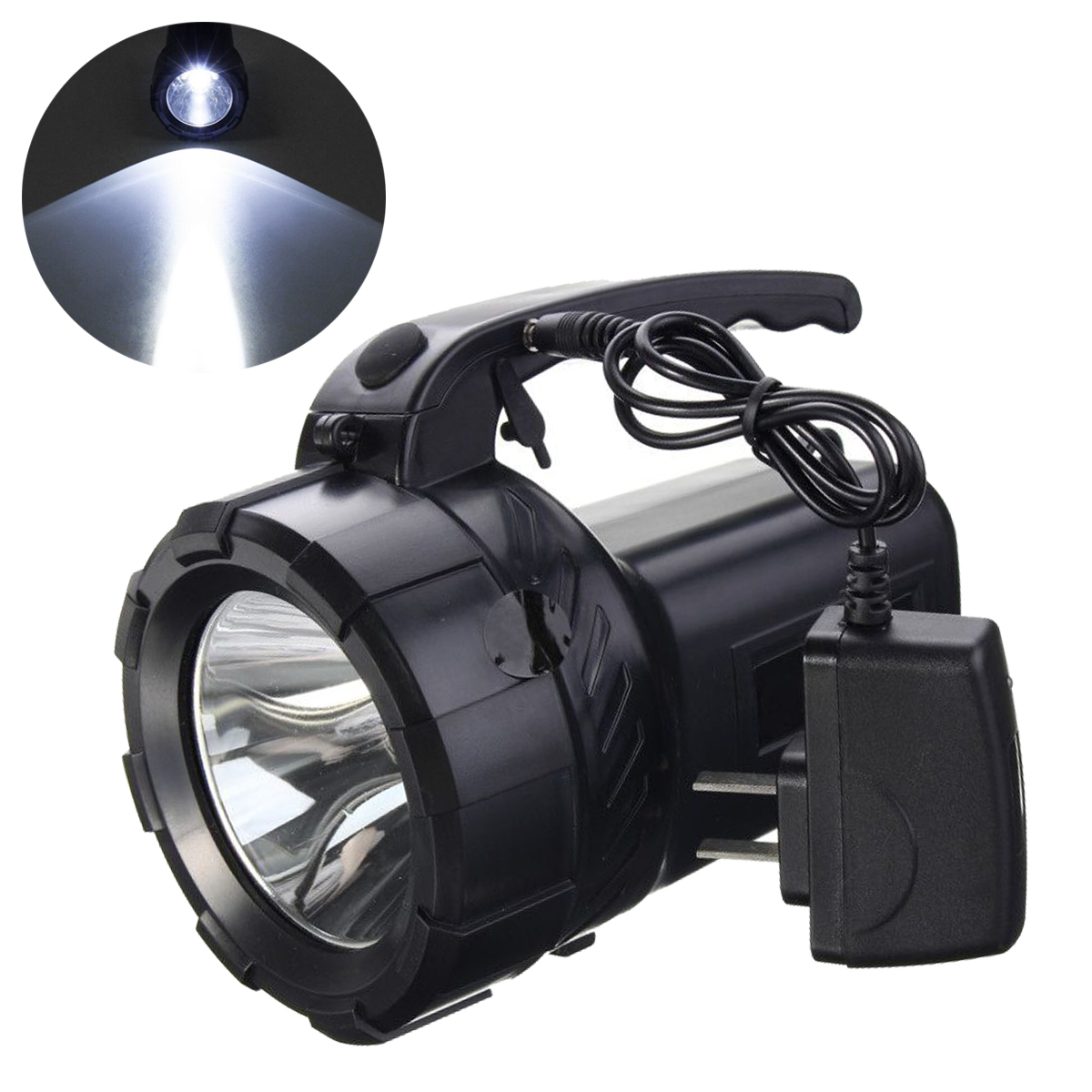 High Power Portable Spotlight Lantern Searchlight Rechargeable Waterproof Hunting Spotlight Torch Work Light Camping Hiking high power portable spotlight lantern searchlight rechargeable waterproof hunting spotlight built in battery