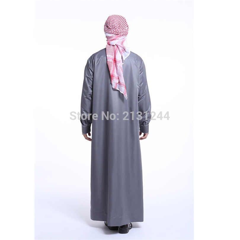 ファッションイスラム教徒衣類男性ローブ長袖刺繍模様アラブドバイインド中東イスラム教徒の布の男性