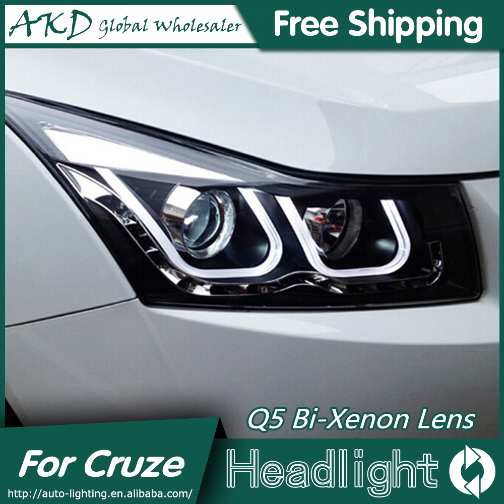 AKD Car Styling Head Lamp for Chevrolet Cruze Headlights New Cruze LED Headlight DRL Q5 Bi Xenon Lens High Low Beam Parking