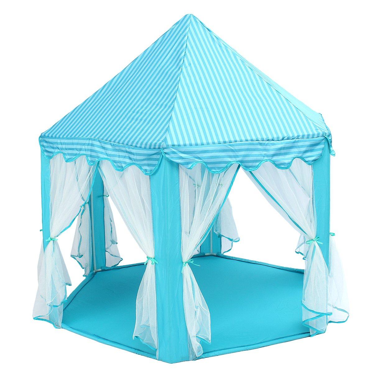 Синий, зеленый, розовый Замок принцессы играть палатки активности Сказочный домик весело театр пляж палатка ребенок играет игрушка подарок...