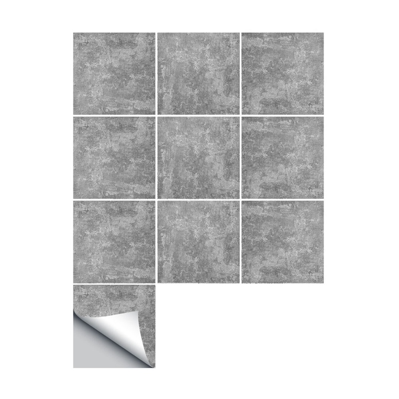 10 Pcs/Set Waterproof PVC DIY Wall Tiles Stickers Cement tile Wall Sticker Kitchen Adhesive Bathroom Toilet Wallpaper