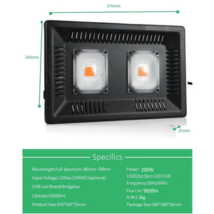 Image 3 - LED לגדול אור ספקטרום מלא פיטו מנורת לצמחים 220V 110V 100W 200W 300W עמיד למים fitolamp עבור מקורה חממה הידרופוני