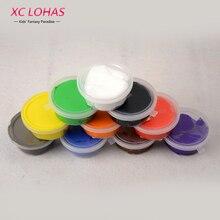 1 шт., однотонный сверхлегкий полимерный пластилин для поделок, интеллектуальный пластилин Playdough, игрушка для детей