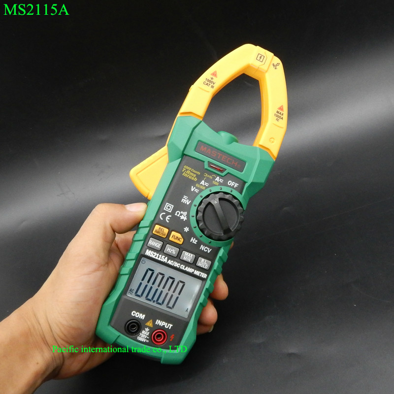 MASTECH MS2115A Digital Clamp Meter AC/DC 1000A  auto range clamp meter Multimeter measured clamp current meter tester mastech ms2026 auto range digital ac current clamp meter price with capacitance frequency tester