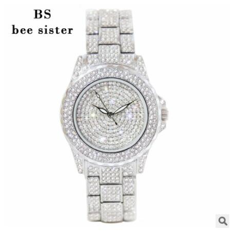 Hot Sales! Luksus Crystal Women Watches! Kvindelig Diamond Kjole Se - Dameure - Foto 3