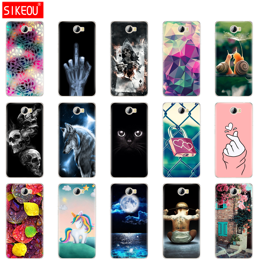Soft Silicone TPU Case Cover FOR Huawei Y5 II Y5 2 / Y6 II Compact / Russia Honor 5A LYO-L21 Cat Flower