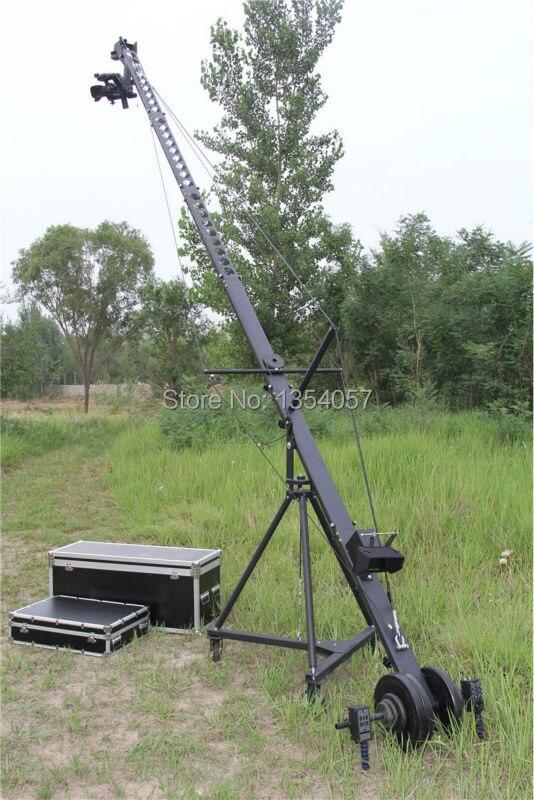Tête à distance équilatérale triangle section transversale 8 m jimmy jib caméra grue à vendre