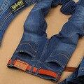 Nueva Moda 2016 Marca Mens Jeans Verano Pantalones Vaqueros de Color Claro Vaqueros Delgados Pantalones Pantalones Masculinos Pantalones Vaqueros Largos de Los Hombres RH-2082