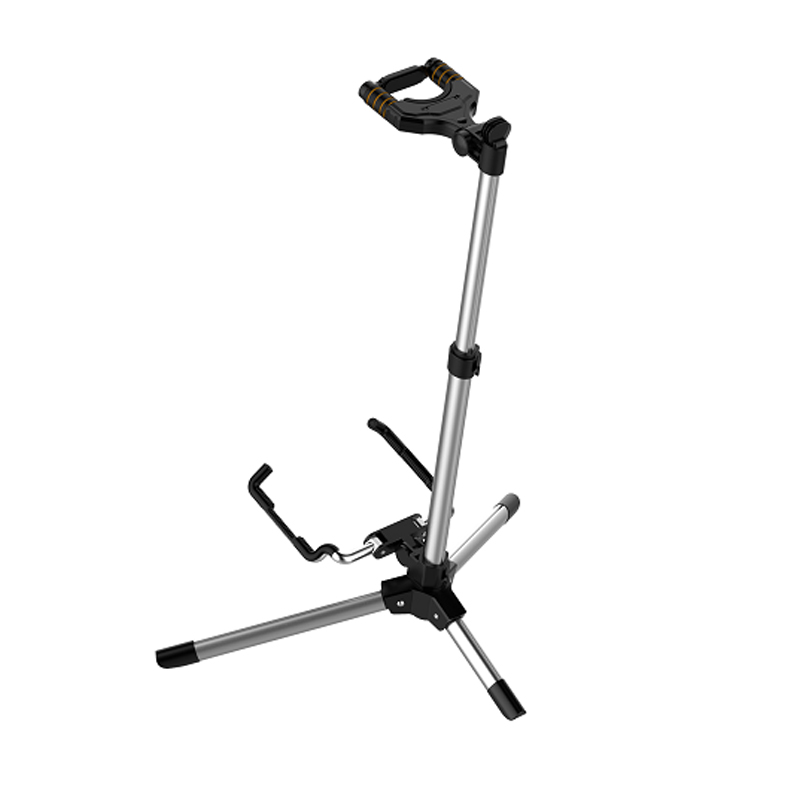 Aroma AGS-10 guitar stand foldable aluminum alloy rest tripod folding stand pickup holder for electric bass acoustic guitar roland gk 3 divided pickup for bass guitar electric guitar