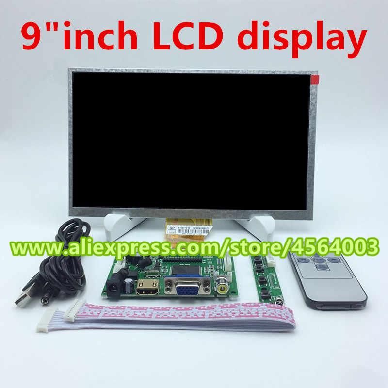 9 inch 800*480 TTL điều khiển HDMI VGA 2AV hiển thị ma trận Âm Thanh màn hình Màn Hình LCD AT090TN10 bảng điều khiển cho raspberry pi PC